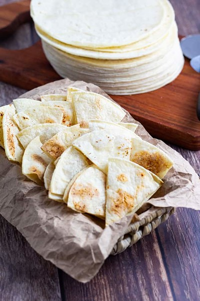 Healthy Homemade Tortilla Chips