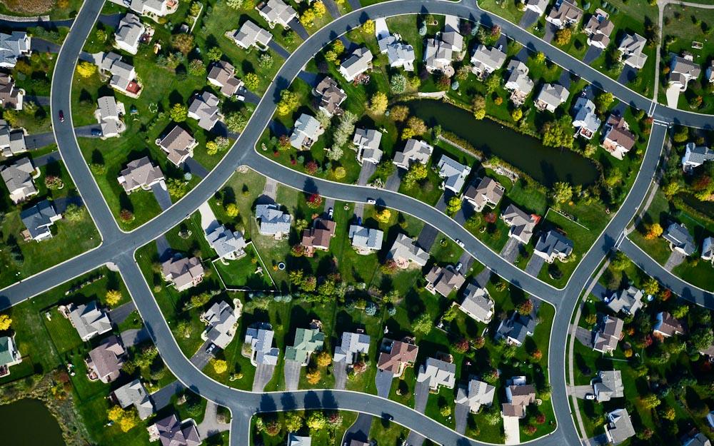 . A suburban neighborhood, seen from the air. (Pioneer Press: Ben Garvin)