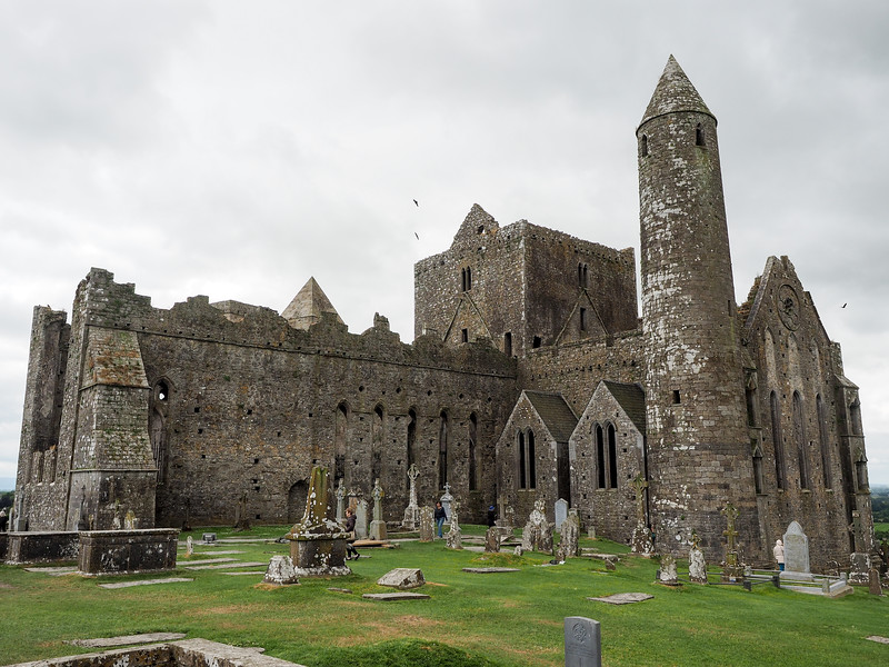 Round Tower at Rock of Cashel in Ireland