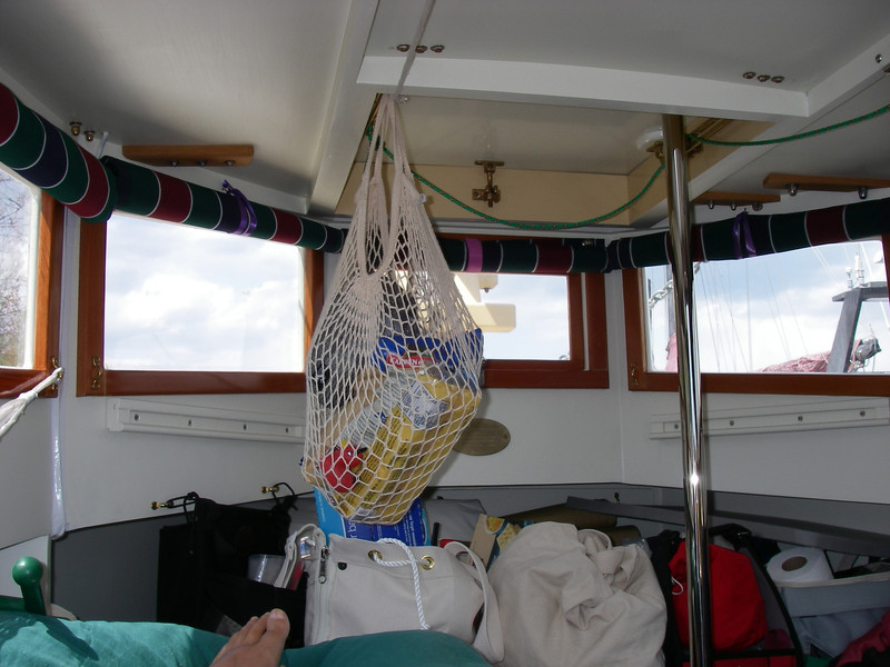 Inside the boat, post-launch.