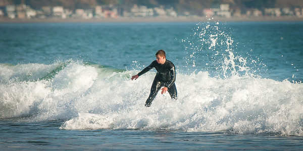 Kyle Surfing @ Capitola, Jan. 14