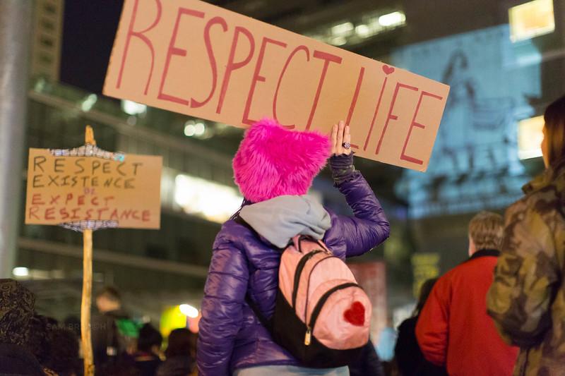 Protests Marches Vigils copyright Sam Breach 2016-20170126 - T48A0342 -We Resist No KXL no DAPL - photographed by Sam Breach 2017.jpg
