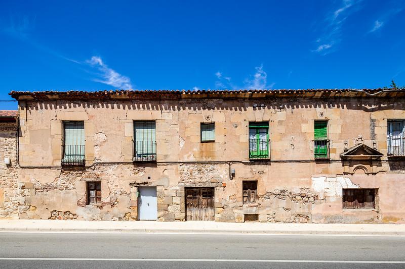 Typical houses, Las Postas street, Soria, Spain