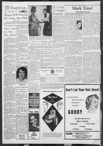 Daily Trojan, Vol. 46, No. 122, April 26, 1955