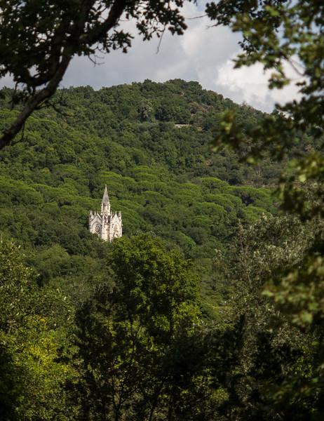 Hidden church in Massif de Maures