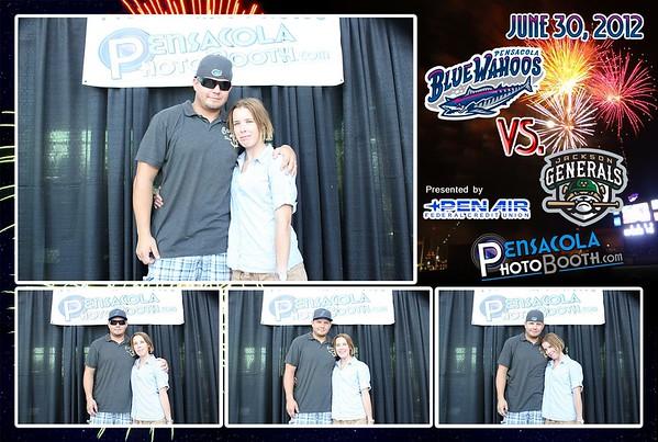 Pensacola Blue Wahoos Home Baseball Game vs. Generals 6-30-2012