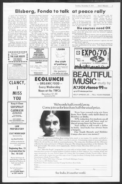 Daily Trojan, Vol. 64, No. 34, November 09, 1971