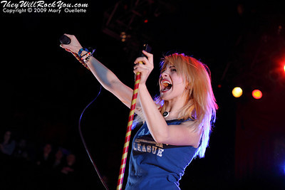 Paramore <br> October 19, 2009  <br> House of Blues - Boston, MA <br> Photos By: Mary Ouellette