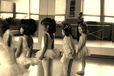 Mia's First Ballet class