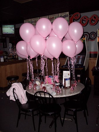 Pink Ladies set up for Rock For The Cure