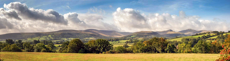 Brecon Beacons panorama
