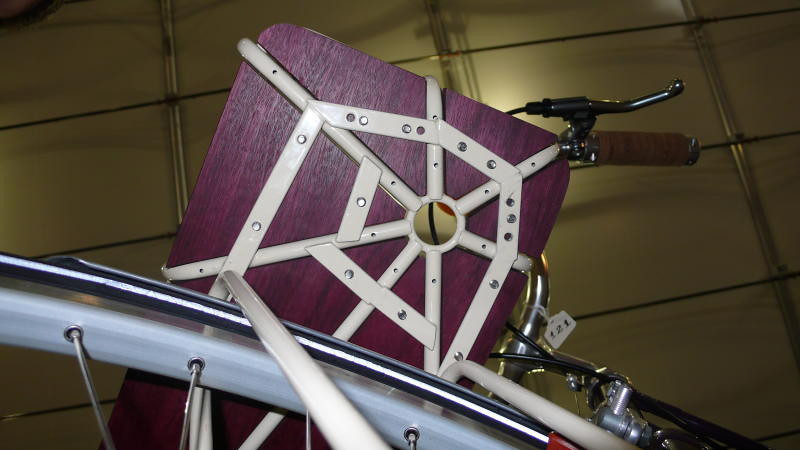 Ahearne Cycles - Basket - Shot from below, the basket reveals how the wood is attached.