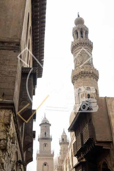Old Ottoman style architecture at the Muizz Street in Old Cairo