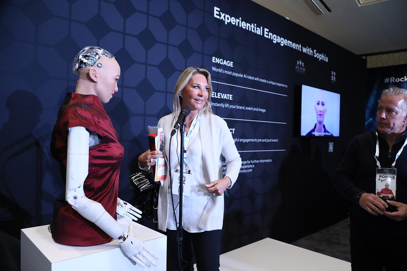 Sophia the Robot at Six Star Innovation and Experience Lab