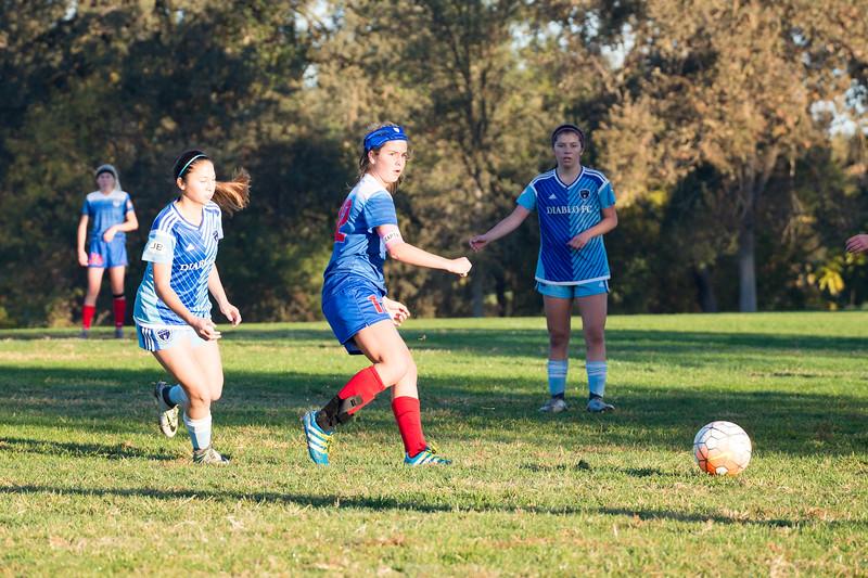 10/22/17 - Diablo FC 02G NPL @ San Juan 03G ECNL (02 Girls U16 NPL)