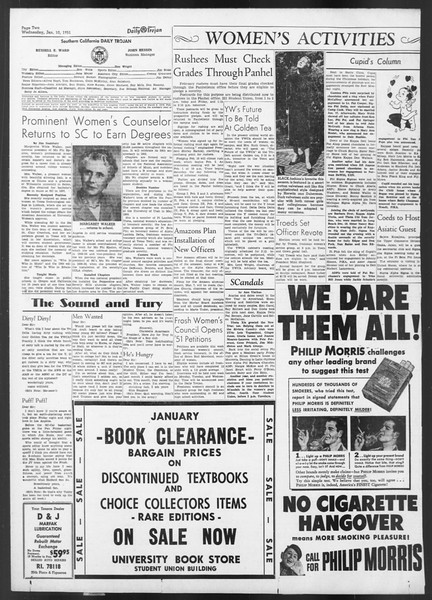 Daily Trojan, Vol. 42, No. 66, January 10, 1951
