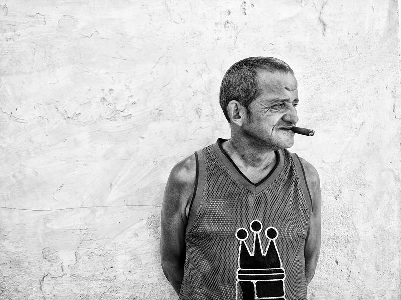 Man smoking cigar, Trinidad, Cuba