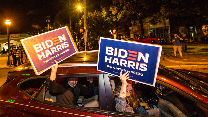 president elect Biden celebration