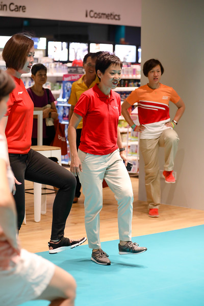 Minister Grace Fu, during Active Health Lab Launch, taken on 4th Feb 2018 at Heartbeat@Bedok, Singapore. Photo by Sanketa Anand/SportSG
