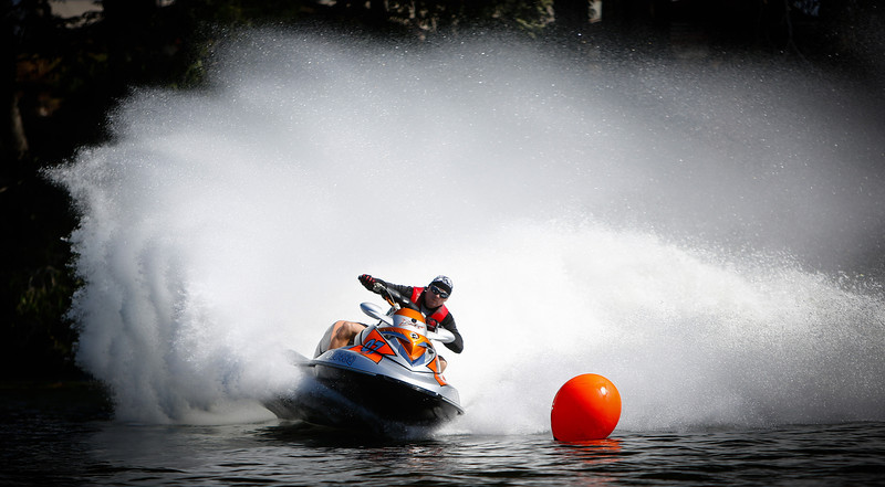 02 June 2013 Townsville, QLD - Allan Pike in action during the NQPWCC (North Queensland Personal Water Craft Club) race meet on Townsville's Ross River - Photo: Cameron Laird (Ph: 0418238811)