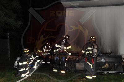 Faringdale F.D. Office Trailer Fire 99 Quaker Meeting House Rd. 9/19/12