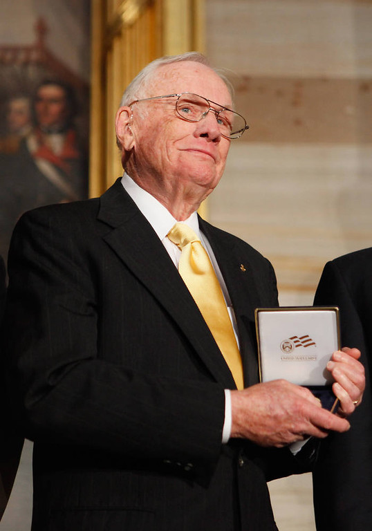. Apollo 11 Astronaut and the first man to walk on the moon, Neil Armstrong.  (Photo by Chip Somodevilla/Getty Images)