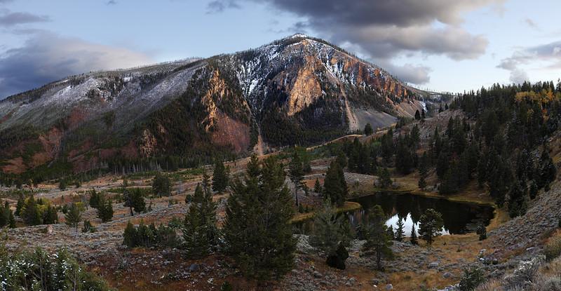 Bunsen Peak at Sunset - Yellowstone National Park