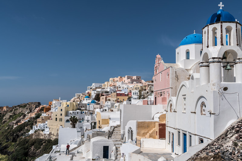Church and homes in Oia