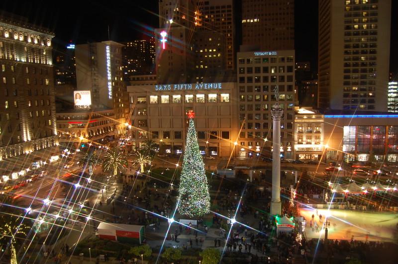 San Francisco's Union Square at Christmas Holiday Season