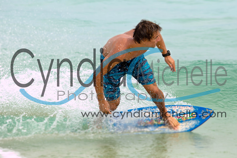 Stephen Trimble surfing Sandy's on the South Shore of Oahu, Hawaii on April 25, 2014