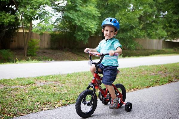 Charlie's new bike