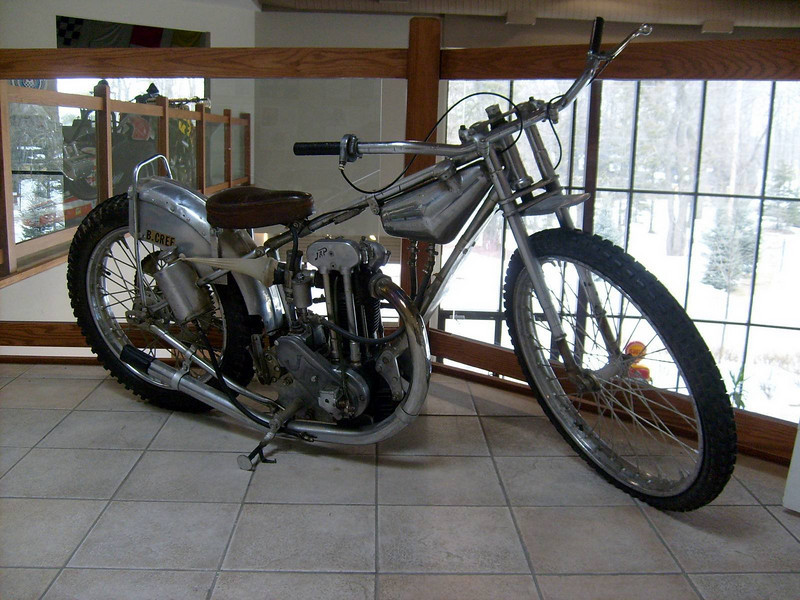 2008: Dad's (Bingley Cree) 1947 Speedway Bike, now at the Canadian Motorsport Hall of Fame nr Milton Ontario: http://www.cmhf.ca/