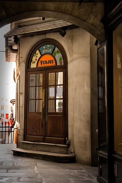 Verjus -we had dinner here - 8 course chef's menu.