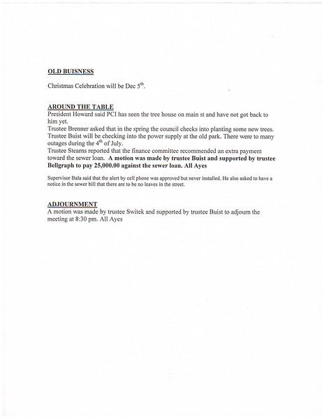 November 2015 Meeting Minutes