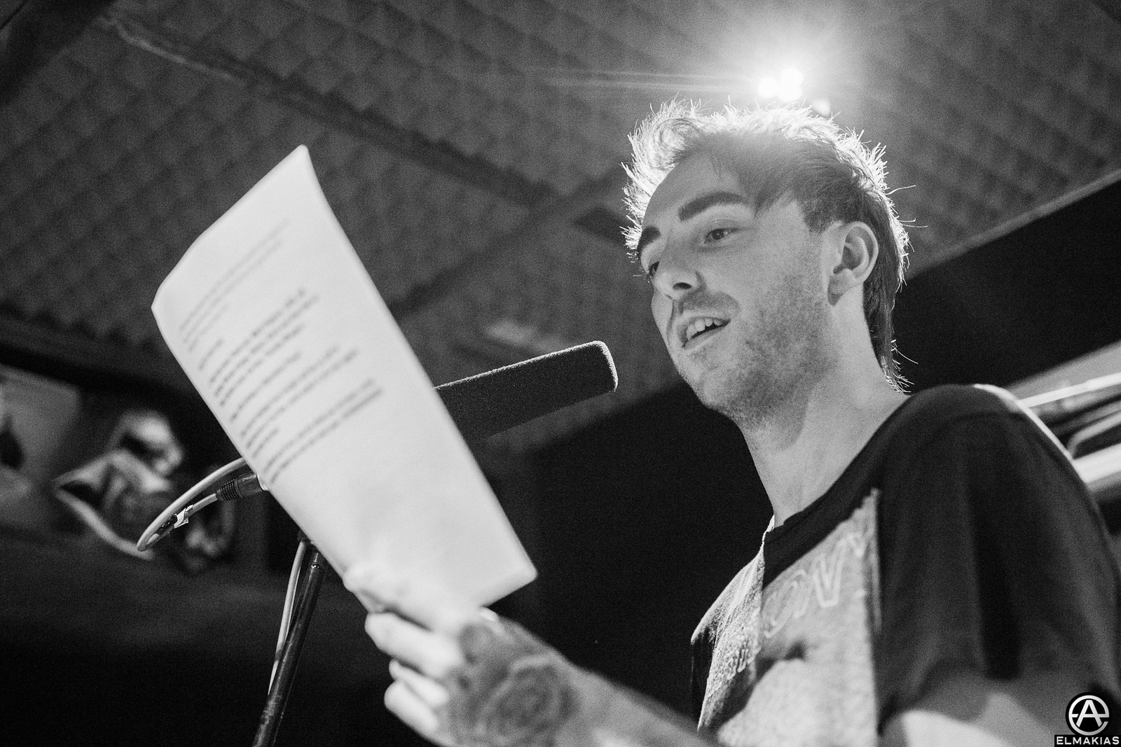 Alex Gaskarth of All Time Low at rehearsals for the Alternative Press Music Awards 2015 by Adam Elmakias
