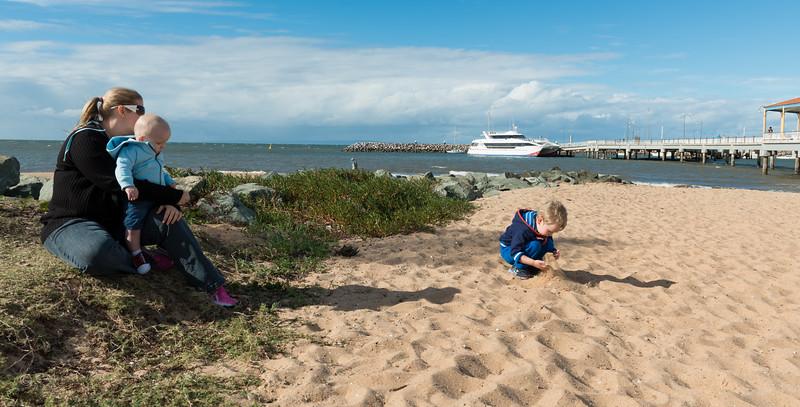 Lets make a sand castle mum.