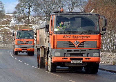 Cemex tippers in the Peak District (Formerly RMC)
