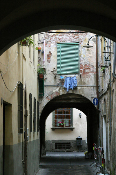 Arch with Blue Shirt