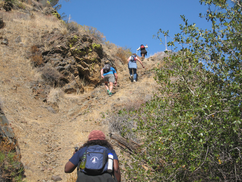 our first uphill section