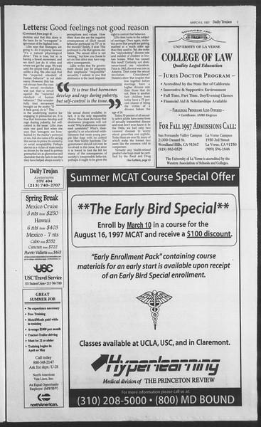 Daily Trojan, Vol. 130, No. 37, March 06, 1997