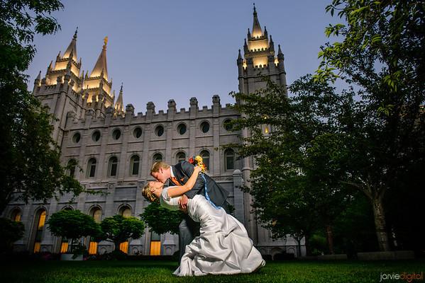 Wedding Couple Formals at Salt Lake Temple