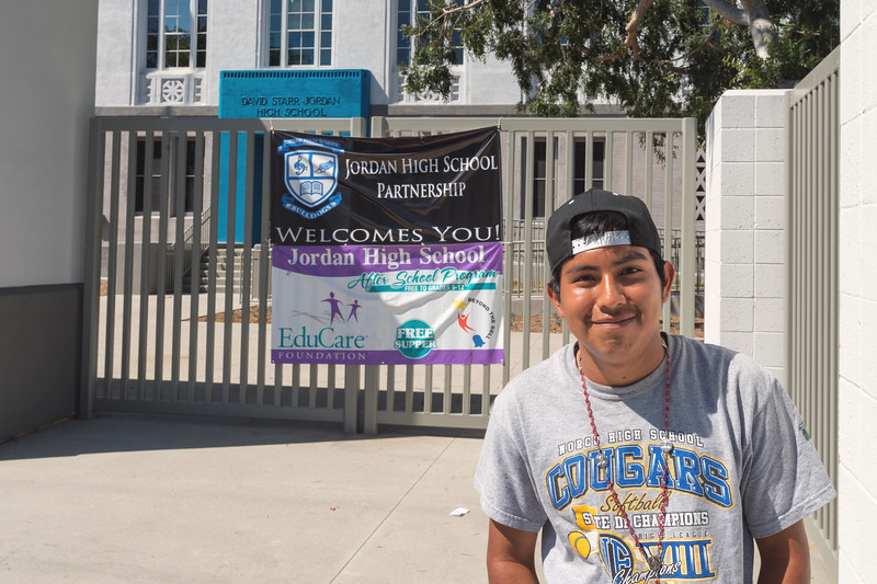 Miguel, a student at Jordan High in Watts.