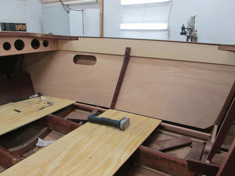 New starboard cockpit liner built and fit in place.