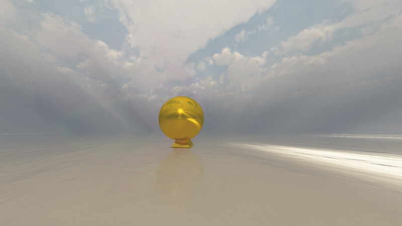 Gold Statue 8 : A Computer Generated Image from Daily Animation