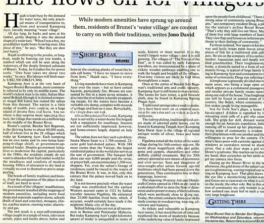Brunei. South China Morning Post. Hong Kong. Sept 1, 1999