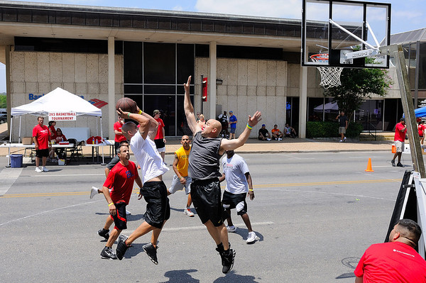 Celebration Serves - 3 on 3 Basketball at The Georgetown Red Poppy Festival April 28, 2012