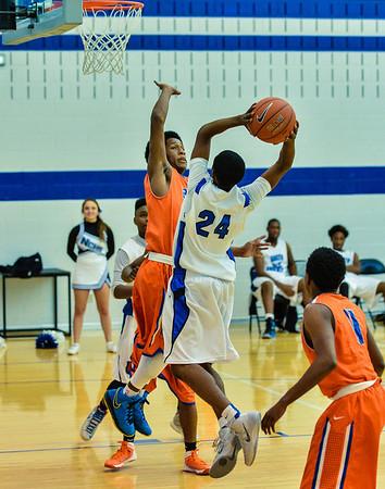 Basketball Varsity Boys vs  Bowie 01-28-14-4