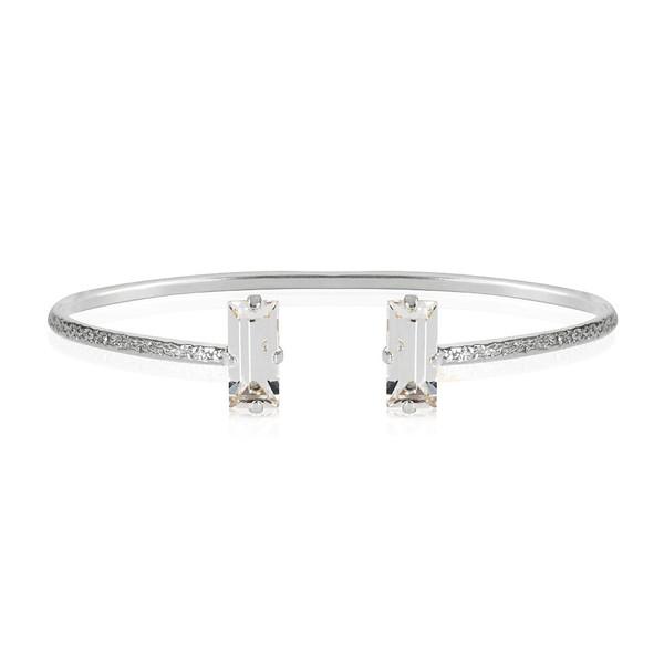 Baguette Bracelet / Crystal Rhodium