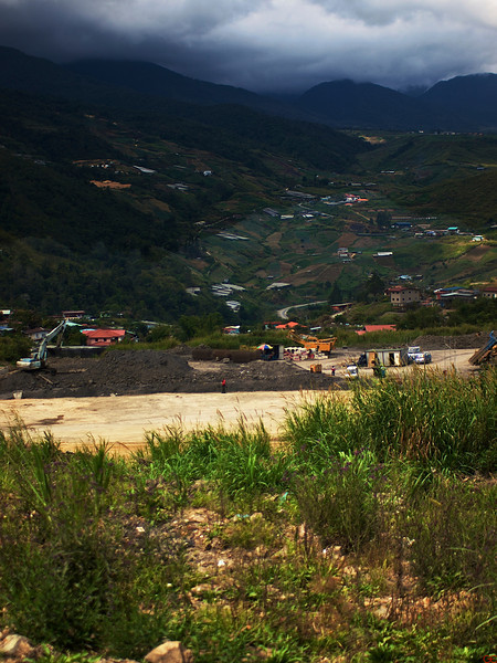 Utslitt landskap i Sabah (Foto: GeirI