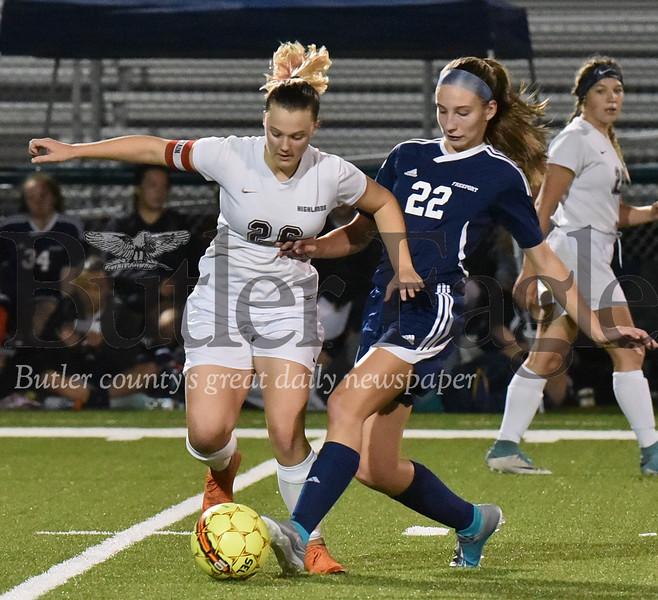 Freeport vs Highlands WPIAL 2A Section 2 girls soccer game at Freeport stadium